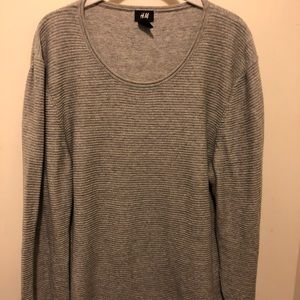 Men's gray H&M ribbed light weight sweater US L